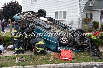 North Lindenhurst F.D. Overturned Auto w/ Entrapment W/B Sunrise Hwy & Buffalo Ave. 9-29-14