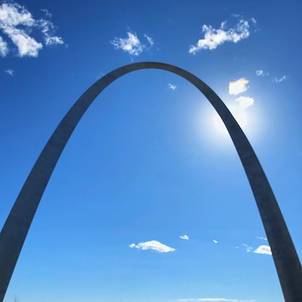 Blue skies and sunshine in St. Louis today!