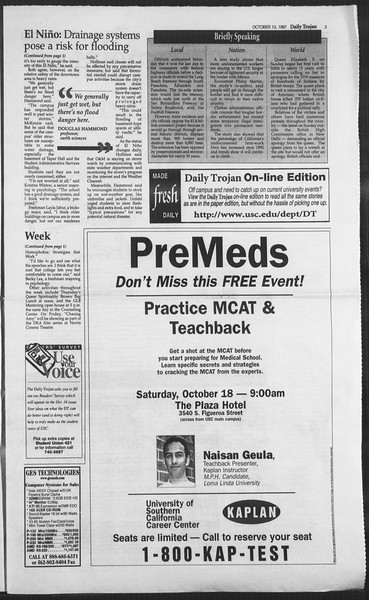 Daily Trojan, Vol. 132, No. 31, October 13, 1997
