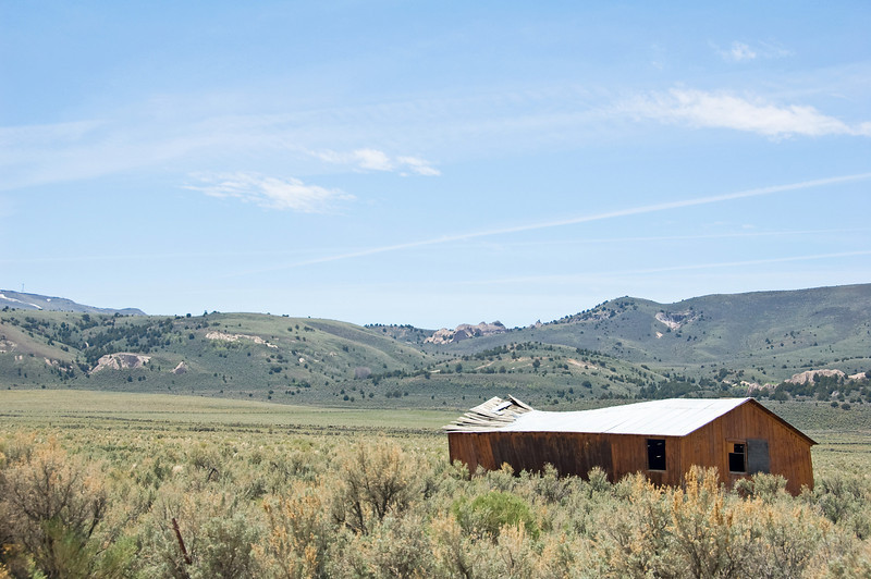 An old building in the Warner Valley.
