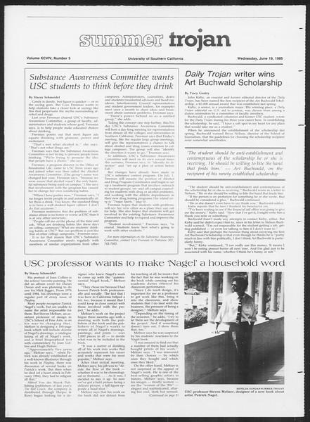 Summer Trojan, Vol. 99, No. 5, June 19, 1985