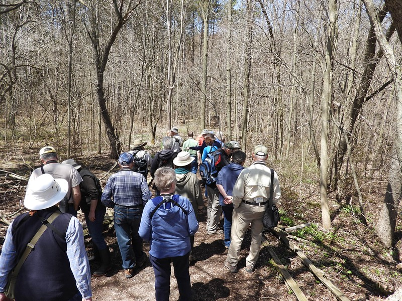 WBFN and PFN members heading out for walk on trails at the Laurie Lawson Outdoor Education Centre
