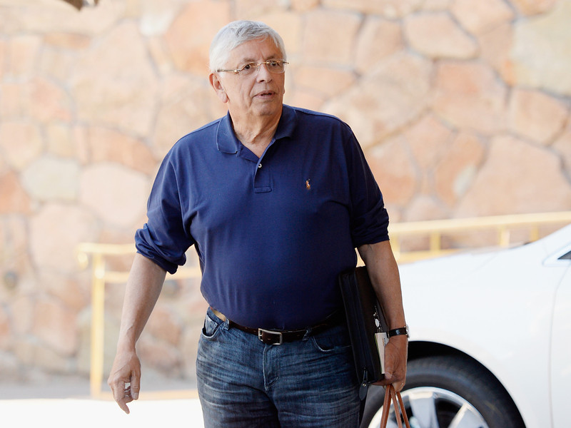 . David Stern, commissioner of the National Basketball Association,  arrives for the Allen & Co., for the Allen & Co. annual conference on July 9, 2013 in Sun Valley, Idaho. The resort will host corporate leaders for the 31th annual Allen & Co. media and technology conference where some of the wealthiest and most powerful executives in media, finance, politics and tech gather for a weeklong meetings which begins Tuesday. Past attendees included Warren Buffett, Bill Gates and Mark Zuckerberg.  (Photo by Kevork Djansezian/Getty Images)