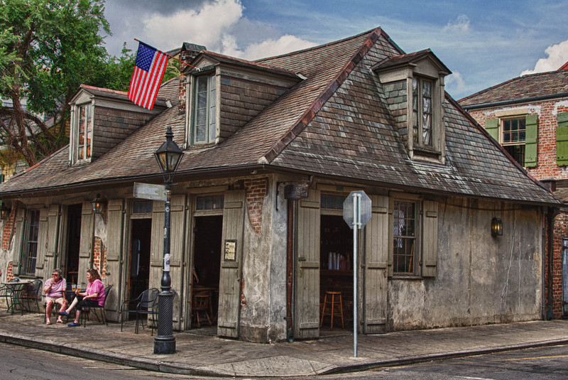 Lafitte's Blacksmith Shop on Bourbon Street in the French Quarter. Done in HDR style.