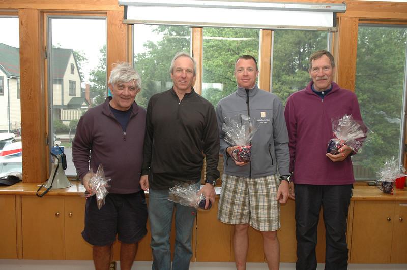 Masters winners: John Gebhardt (1st GGM), Andy Roy (1st M), Todd Hiller (1st A), Roger Link (1st GM)