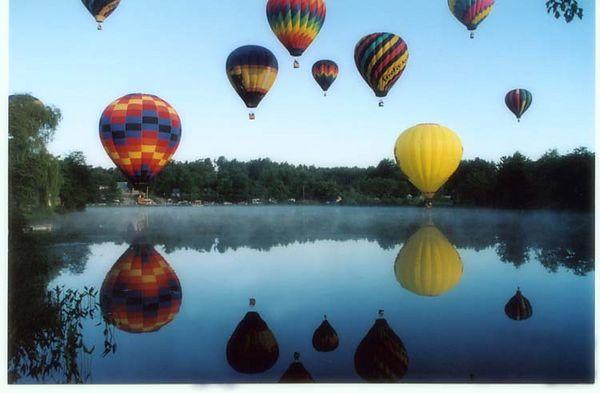 Hot Air Balloon Past