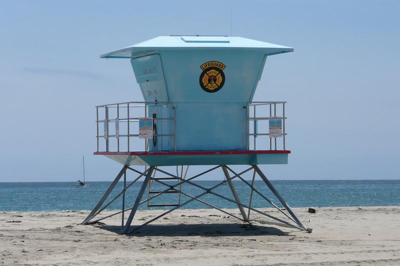 Lifeguard Tower. Santa Cruz Beach, Santa Cruz