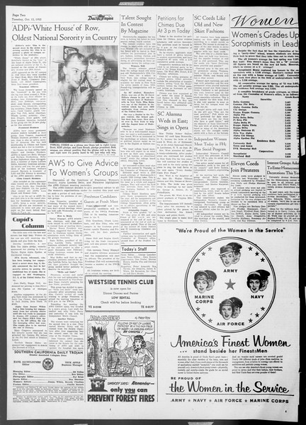 Daily Trojan, Vol. 45, No. 17, October 13, 1953