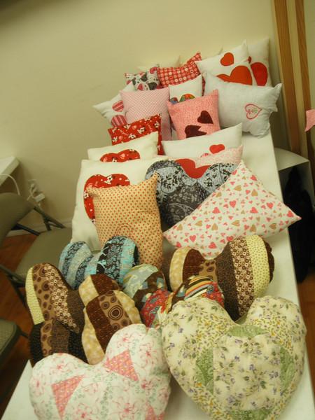 Jan 2014 Heart Pillows
