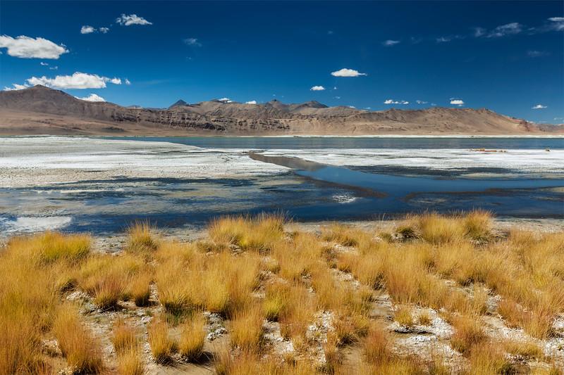 Tso Kar lake in Himalayas. Ladakh, India