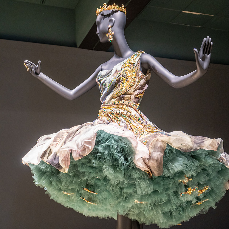 Gown from Guo Pei exhibit at the Bowers Museum in Santa Ana, CA