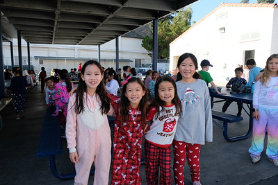 Valentine Elementary Donates Pajamas to Children