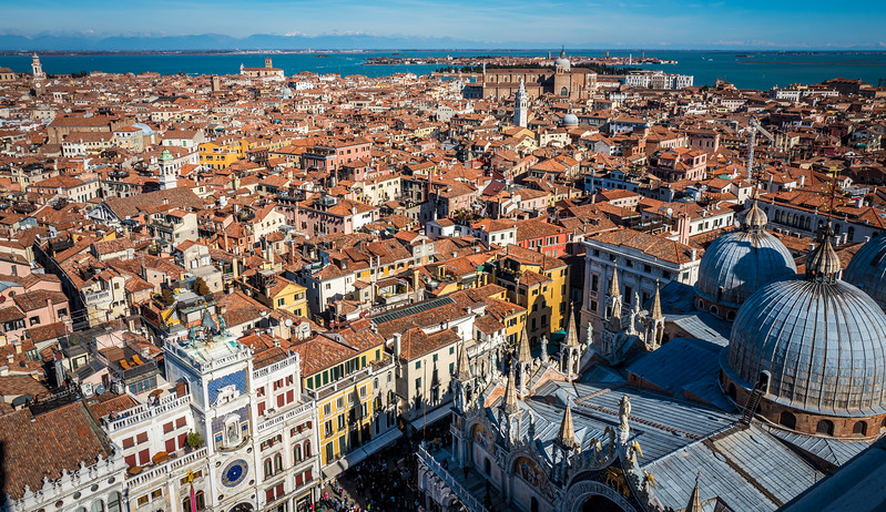 Venice from the top of the tower at San Marco square