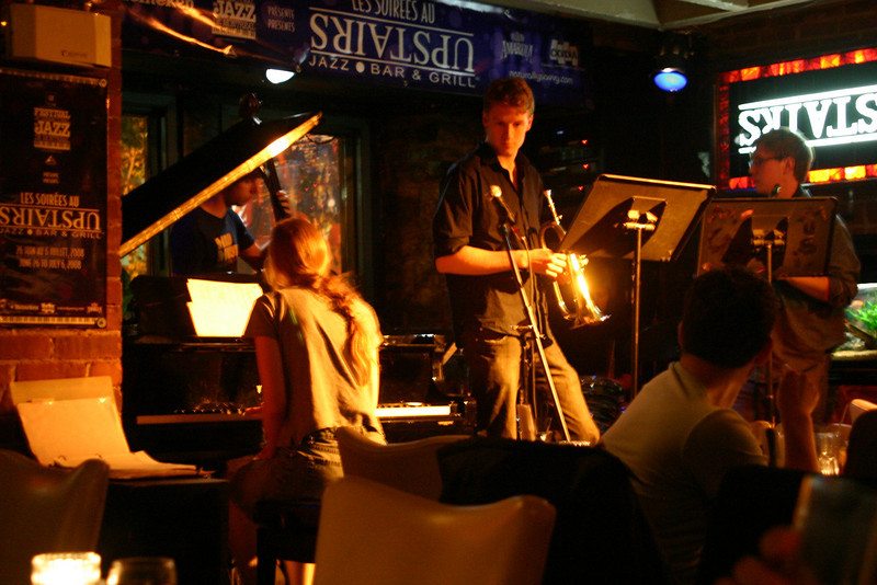 """One of several jazz groups we listened to at the """"Upstairs"""" jazz bar and grill."""
