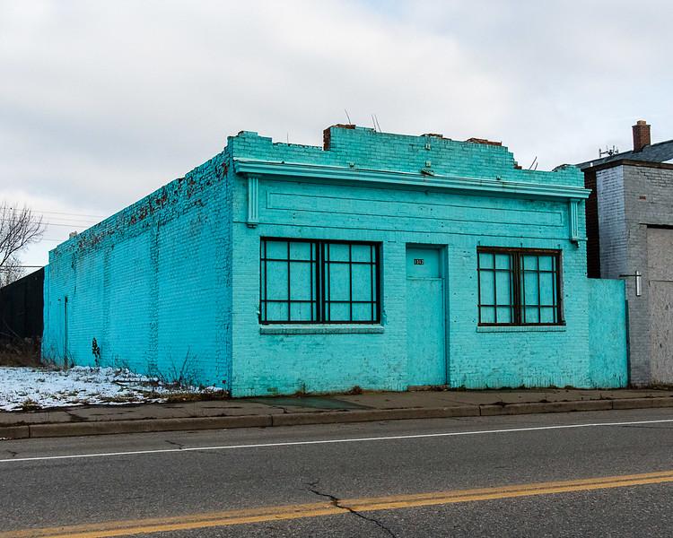 Turquoise Building, Mt. Elliot Street, Detroit