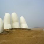 Iconic symbol of Punta del Este's beach, Uruguay
