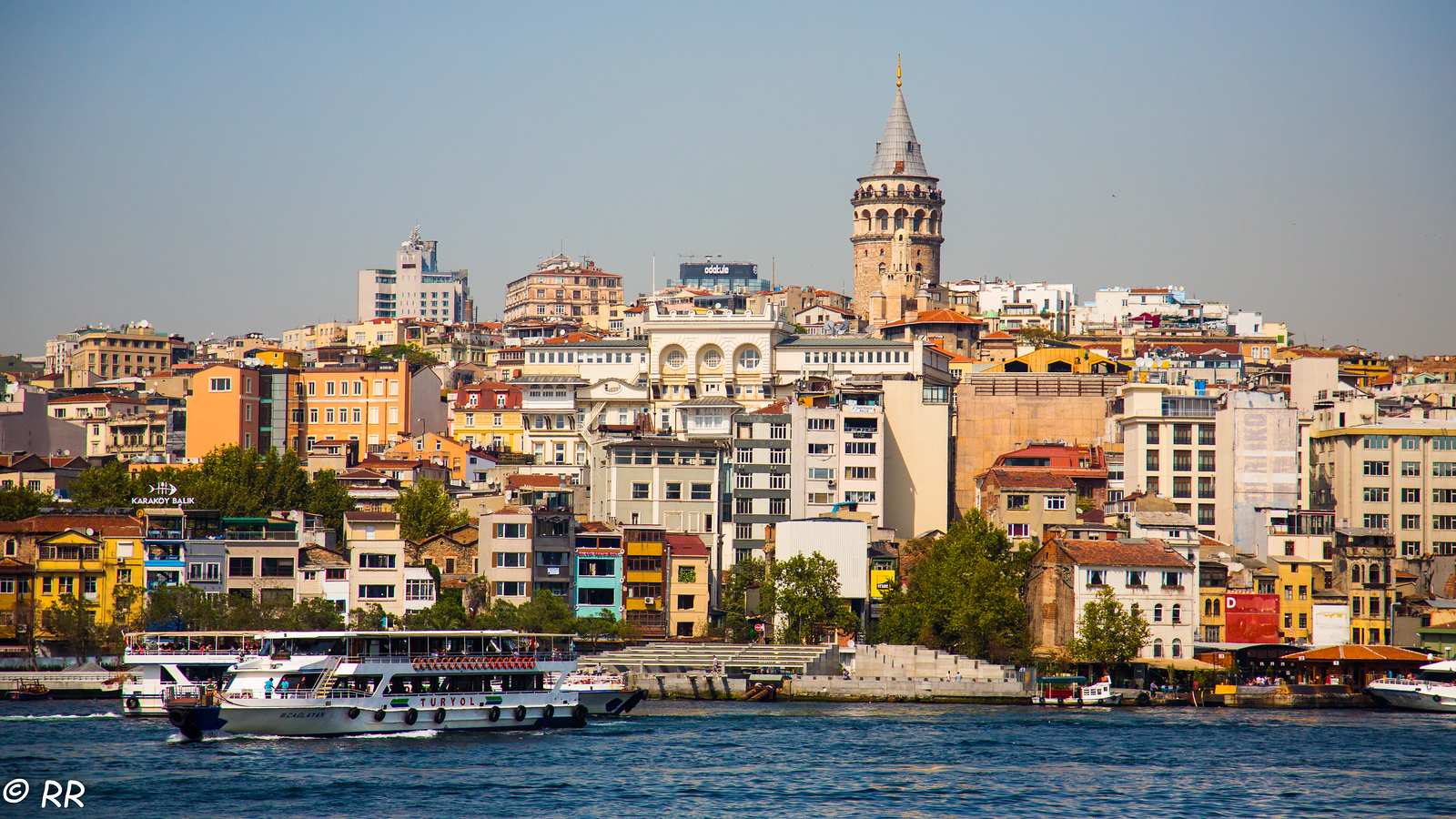 View of Galata tower from across the Bosphorous