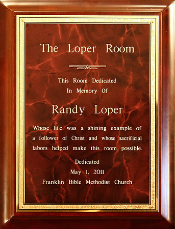 Randy Loper Room Dedication