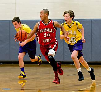 Jamesville-DeWitt vs CBA Freshmen Basketball Jan 15, 2014