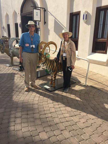 Van and Myra find a hidden Princeton Tiger in Muscat, Oman