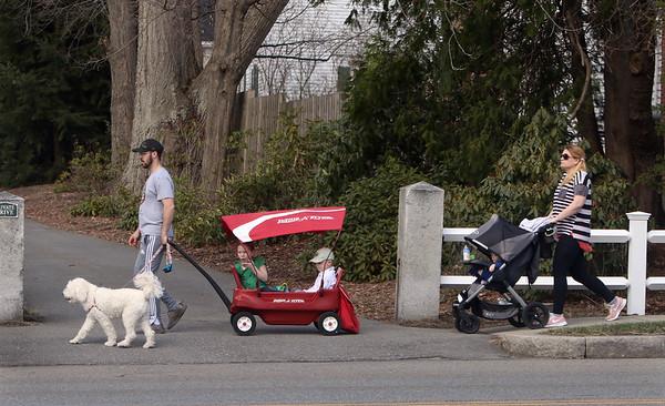 Family walk in Groton 032621