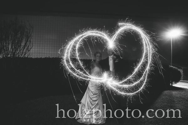 Morgan & Matt B/W Wedding Phots