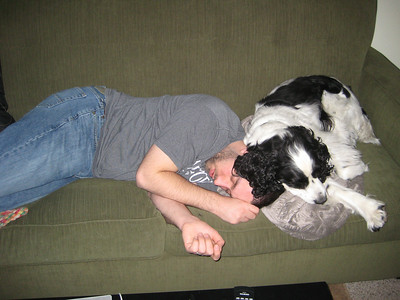 2009-1-14 Coda and Bob Sleeping