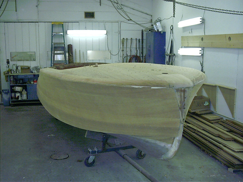 Starboard front view of cover boards.