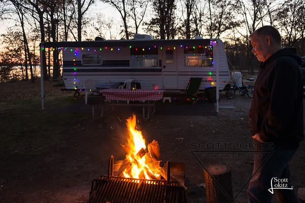 Camping at Lake Carlyle