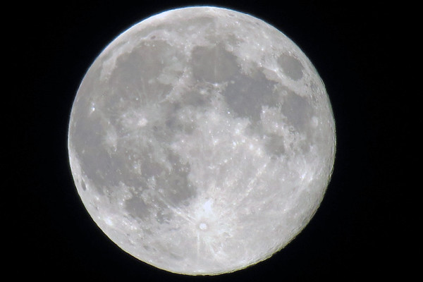 July 22:  A brilliant full moon .  .  .