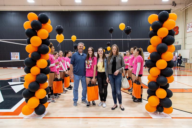 2018-19 Girls Volleyball Senior Night