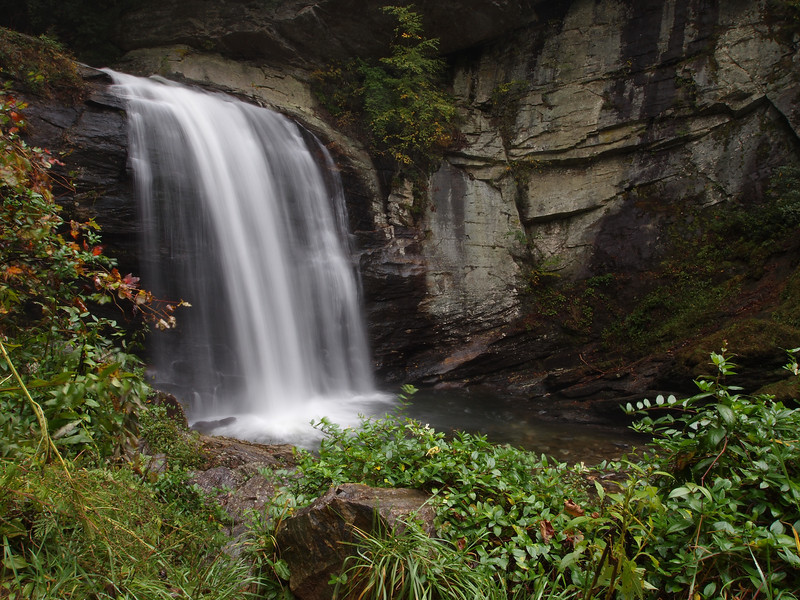 Looking Glass Falls in the Pisgah Ranger District.