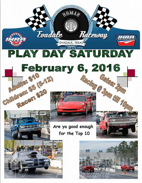 2-6-2016 Evadale Raceway 'Test and Tune'