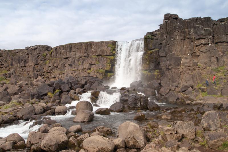waterfall (Oxarafoss) at Thingvellir