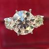 Old European Cut Diamond 3-Stone Trellis Setting, by Steven Kirsch 6
