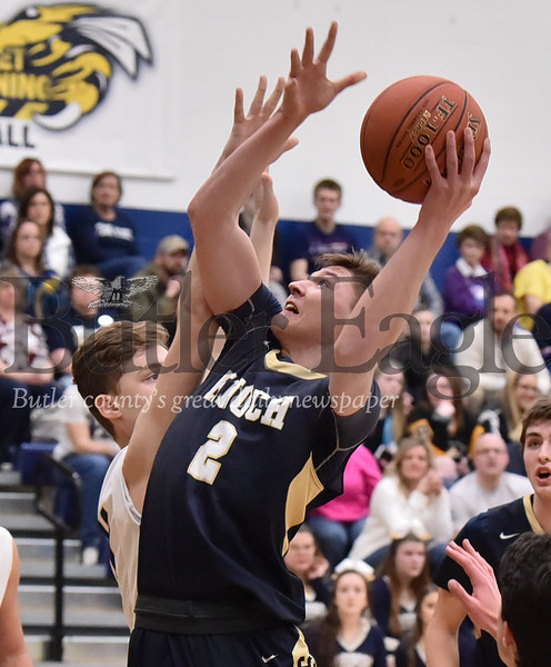 Knoch vs Freeport in a section Boys basketball game at Freeport  Middle School