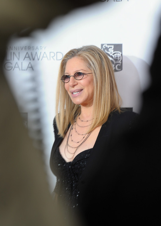 . Barbra Streisand attends the 40th Anniversary Chaplin Award Gala at Avery Fisher Hall at Lincoln Center for the Performing Arts on April 22, 2013 in New York City.  (Photo by Michael Loccisano/Getty Images)
