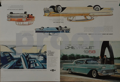 1958 Chevrolet - Selected Images from Sales Literature