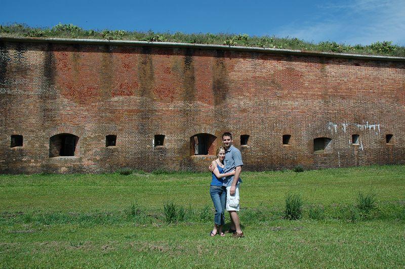 Kate and Miles at Fort Morgan.