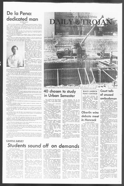 Daily Trojan, Vol. 60, No. 59, January 08, 1969