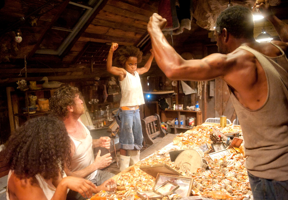 ". Hushpuppy 1, crabs 0 in ""Beasts of the Southern Wild,\"" starring Quvenzhane Wallis (center) as the wee folk hero. Photo Jess Pinkham/Provided by Fox Searchlight Pictures"