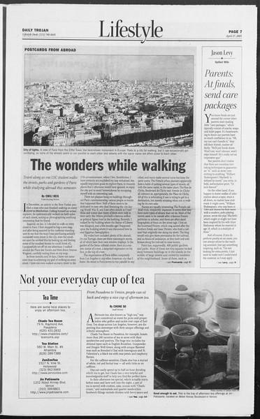 Daily Trojan, Vol. 154, No. 66, April 27, 2005