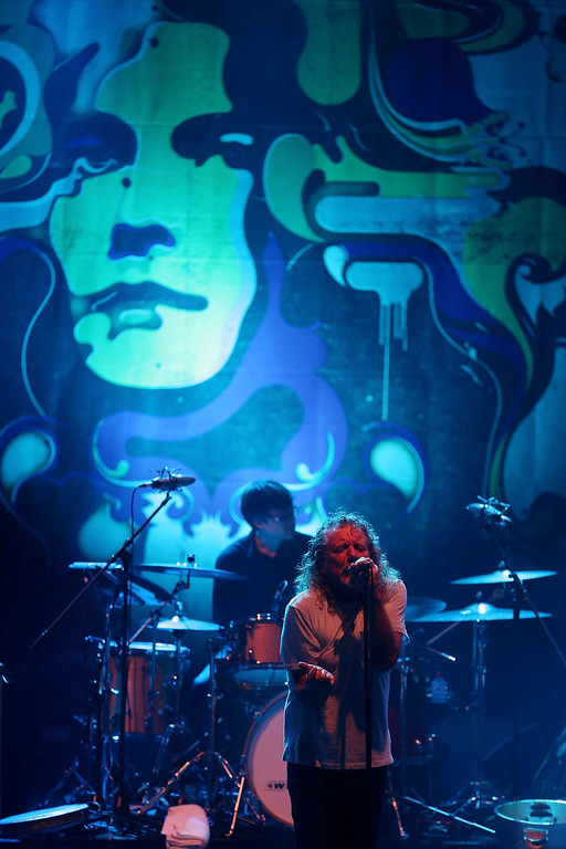. Former Led Zeppelin lead singer Robert Plant performs with his band The Sensational Space Shifters during the Timbre Rock & Roots Festival 2013 on March 21, 2013 in Singapore.  (Photo by Chris McGrath/Getty Images)