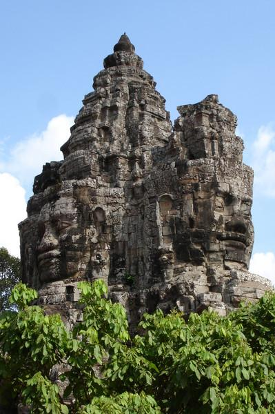 top of South Gate, Angkor Thom