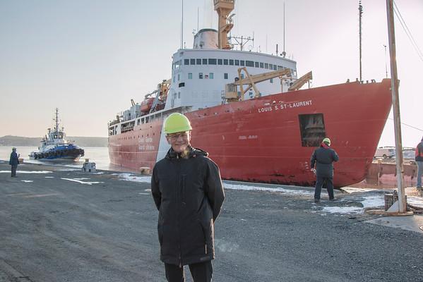 Louis St Laurent April 2014 docking