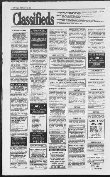 Daily Trojan, Vol. 119, No. 25, February 19, 1993