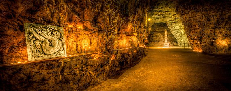 Candle lit  Chalk Mines
