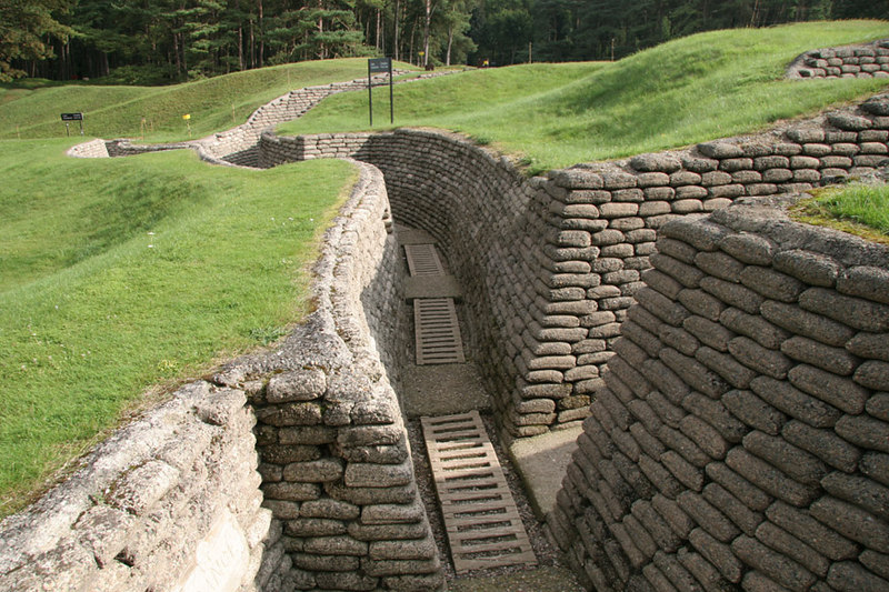 More preserved trenches at Vimy Ridge.