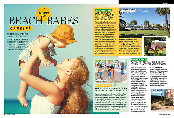 Family travel - print features