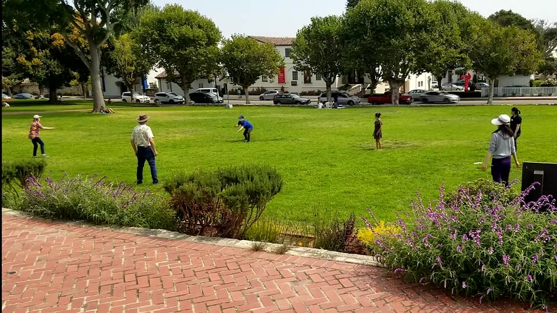 Playing Frisbee during Covid